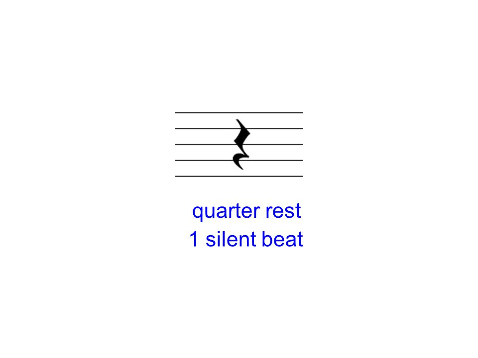 quarter rest 1 silent beat