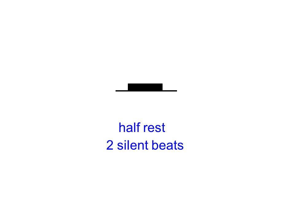 half rest 2 silent beats