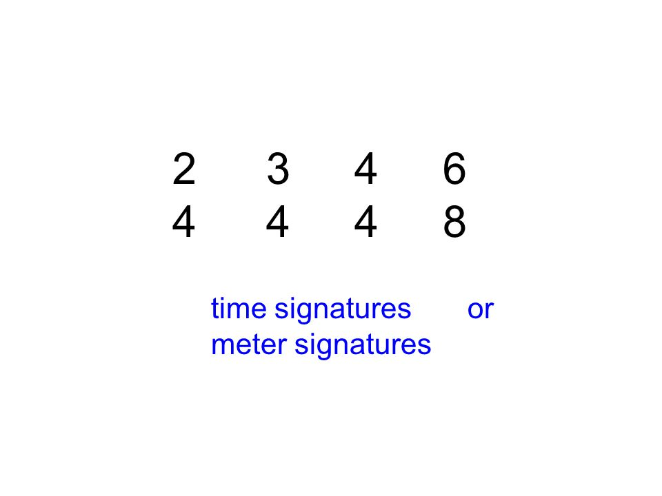 2 42 4 time signatures or meter signatures 3434 4444 6868