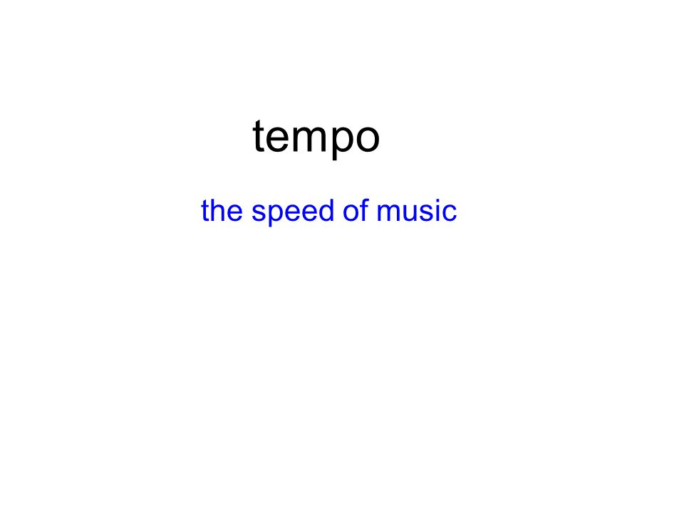 tempo the speed of music