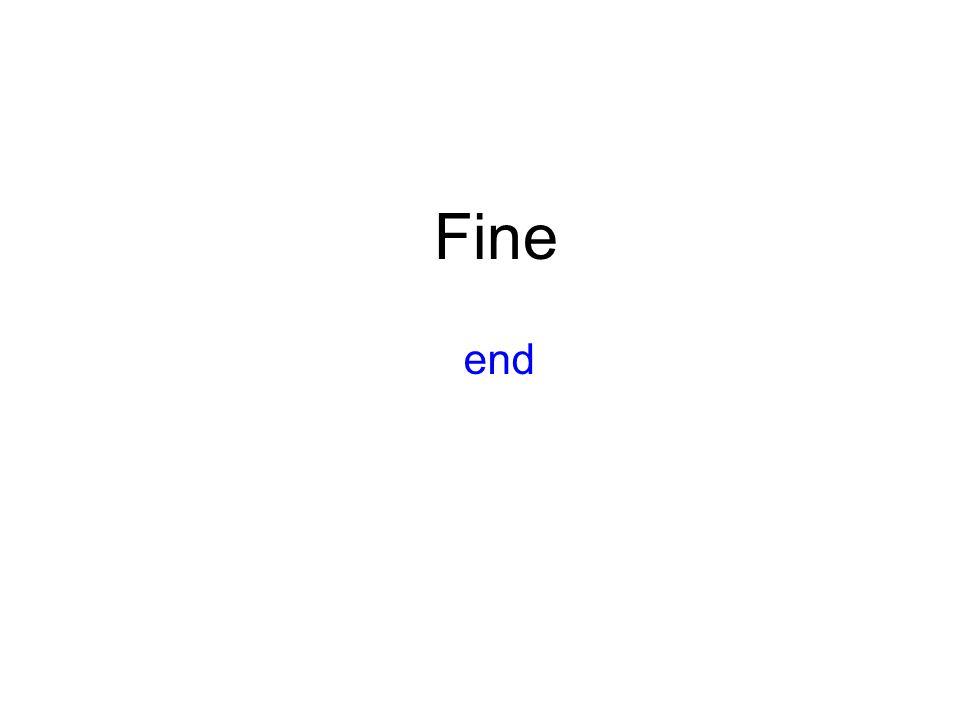 end Fine
