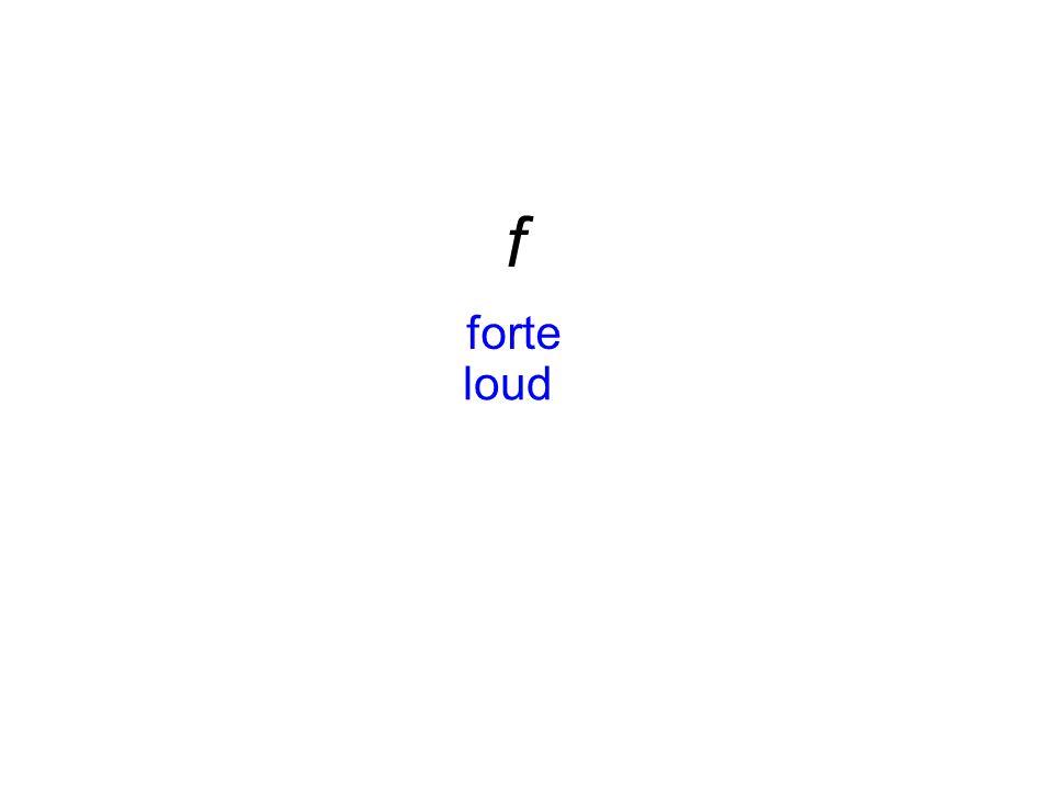 f forte loud