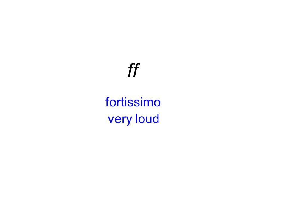 fortissimo ff very loud