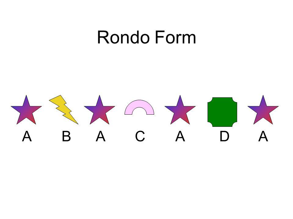 Rondo Form AAAABCD