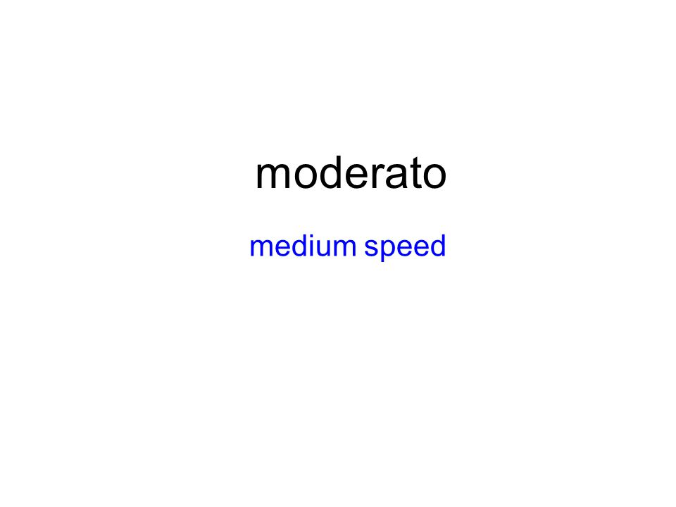 moderato medium speed