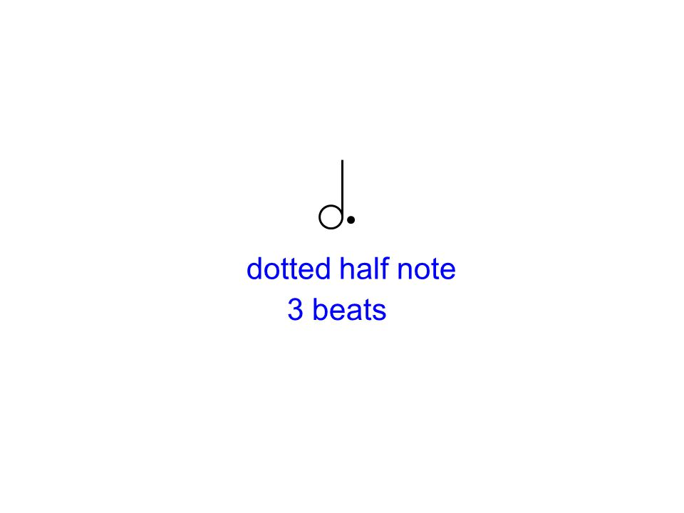 dotted half note 3 beats