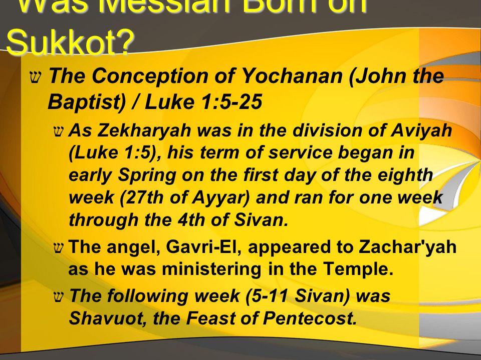 Was Messiah Born on Sukkot. Was Messiah Born on Sukkot.