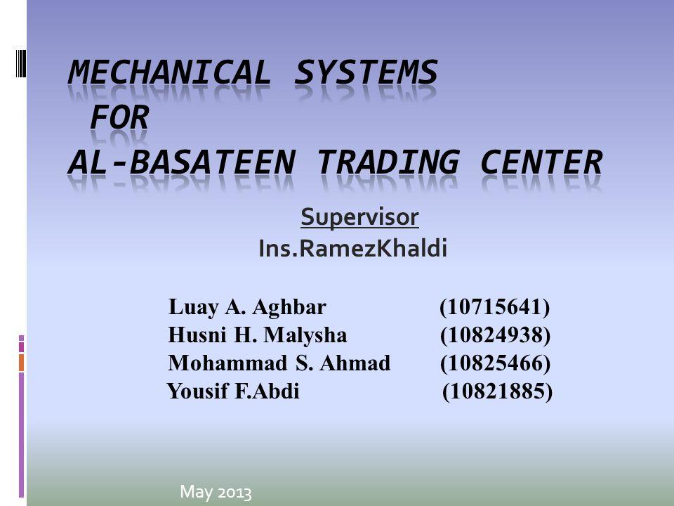 May 2013 Supervisor Ins.RamezKhaldi Luay A. Aghbar (10715641) Husni H.