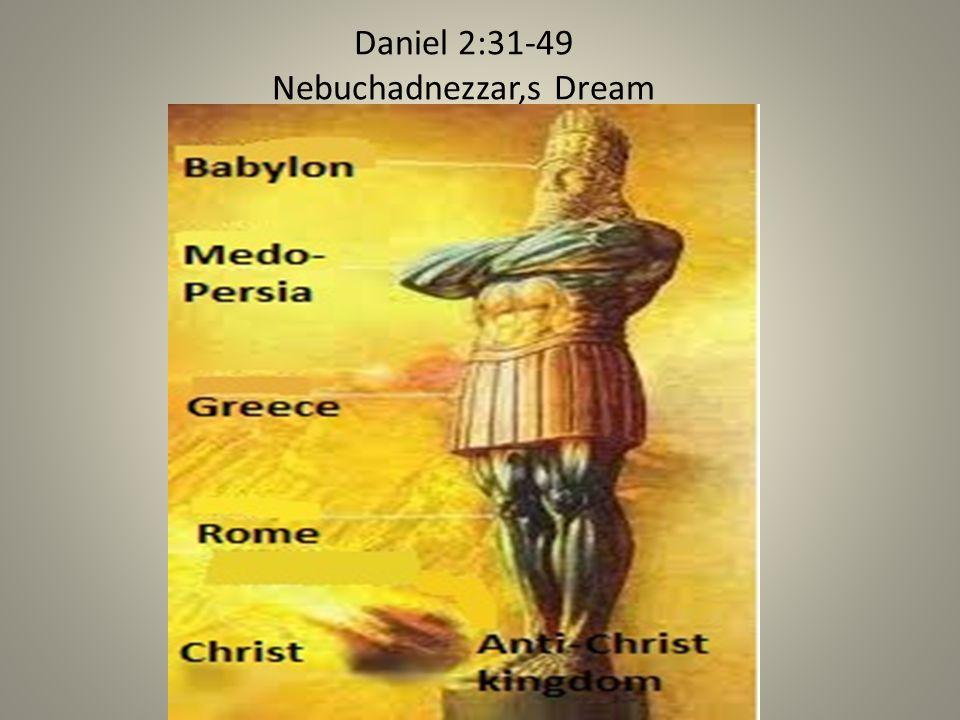 Daniel 2:31-49 Nebuchadnezzar,s Dream