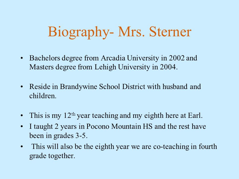 Biography- Mrs.