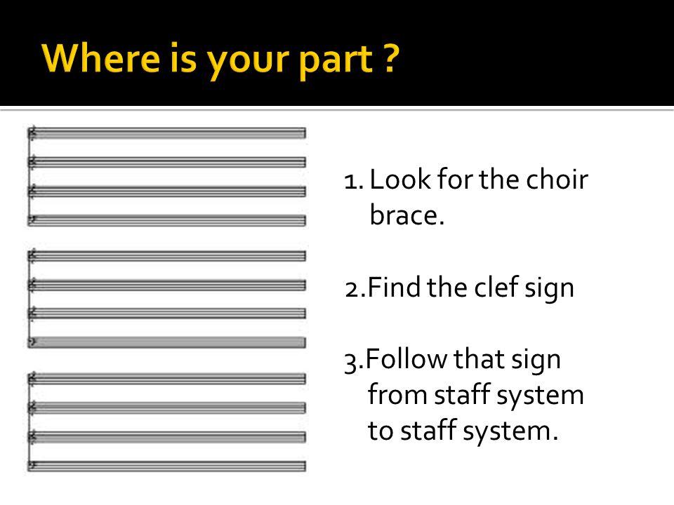 1.Look for the choir brace.