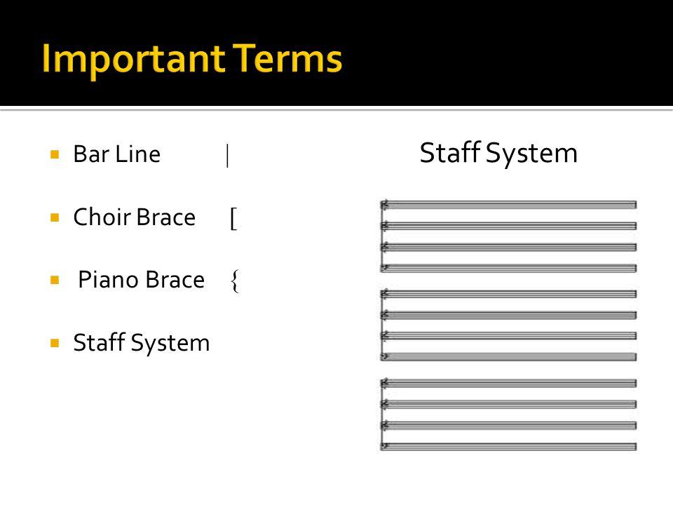  Bar Line |  Choir Brace [  Piano Brace {  Staff System Staff System