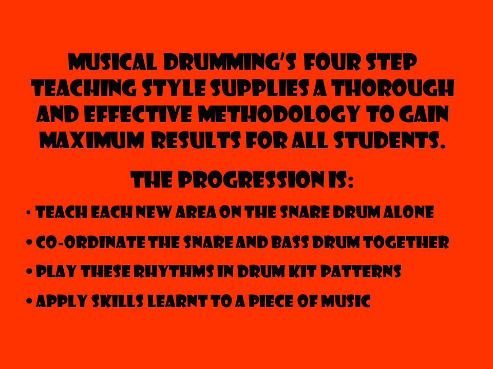 Topics covered include: ¼, 1/8 th, Triplet & 1/16 th Note Grooves Drum Fills X-stick & Bell patterns buying your first drum kit All topics covered include play along backing tracks