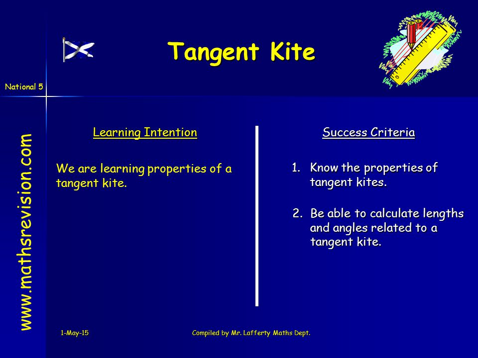National 5 Tangent Kite 1-May-15Compiled by Mr.Lafferty Maths Dept.