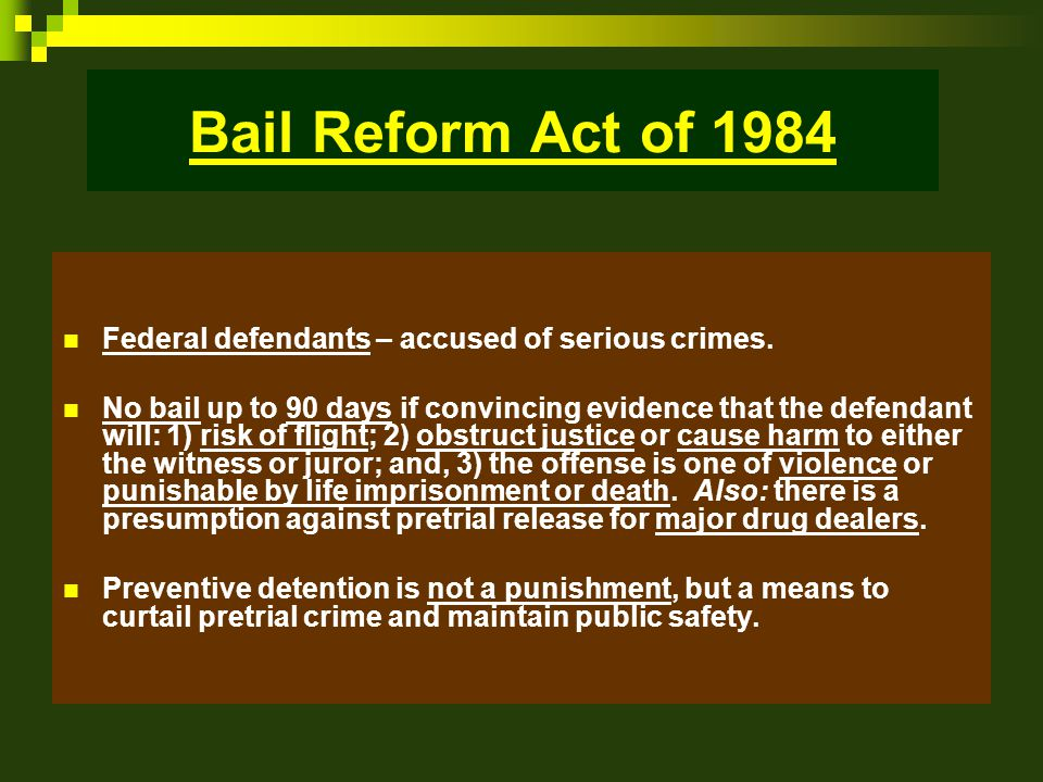Bail and Pretrial Release