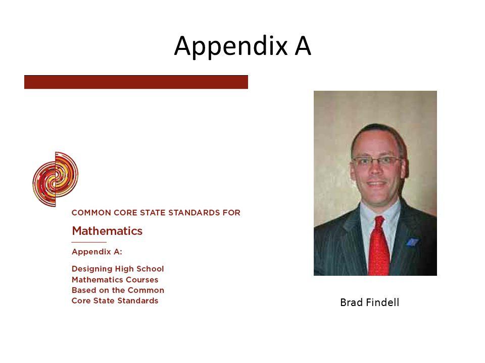 Appendix A Brad Findell