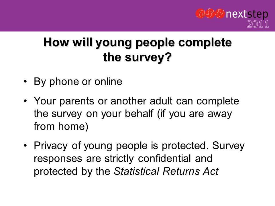 How will young people complete the survey.