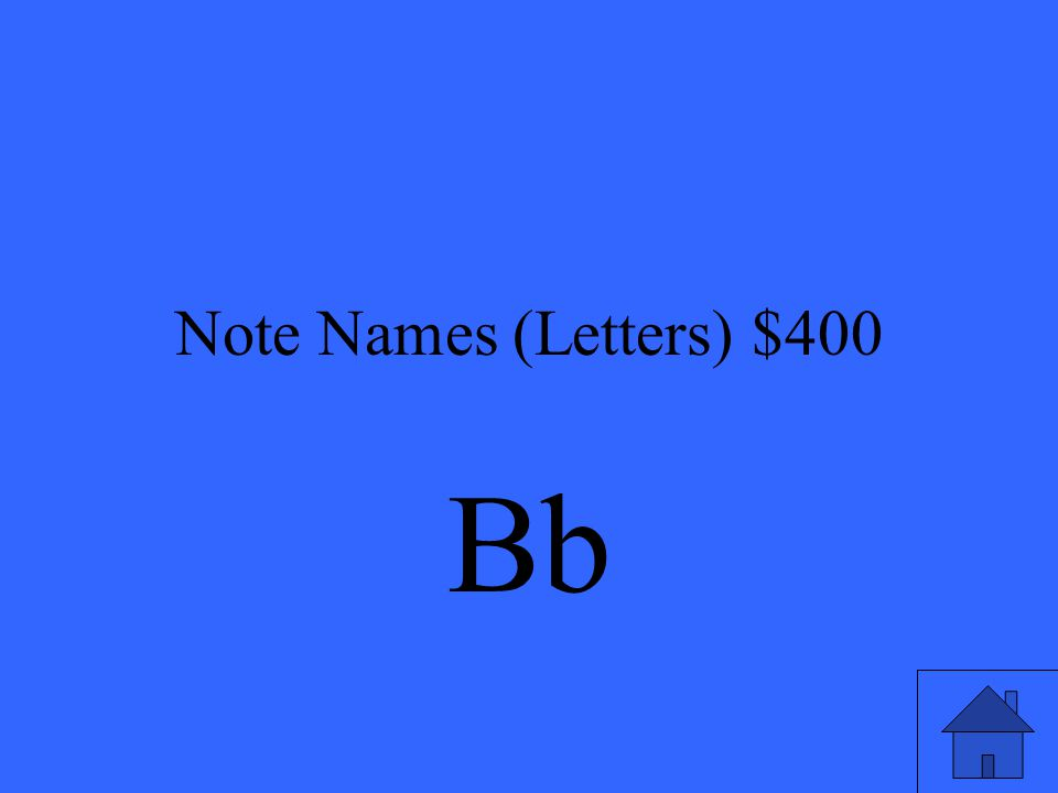 Note Names (Letters) $400