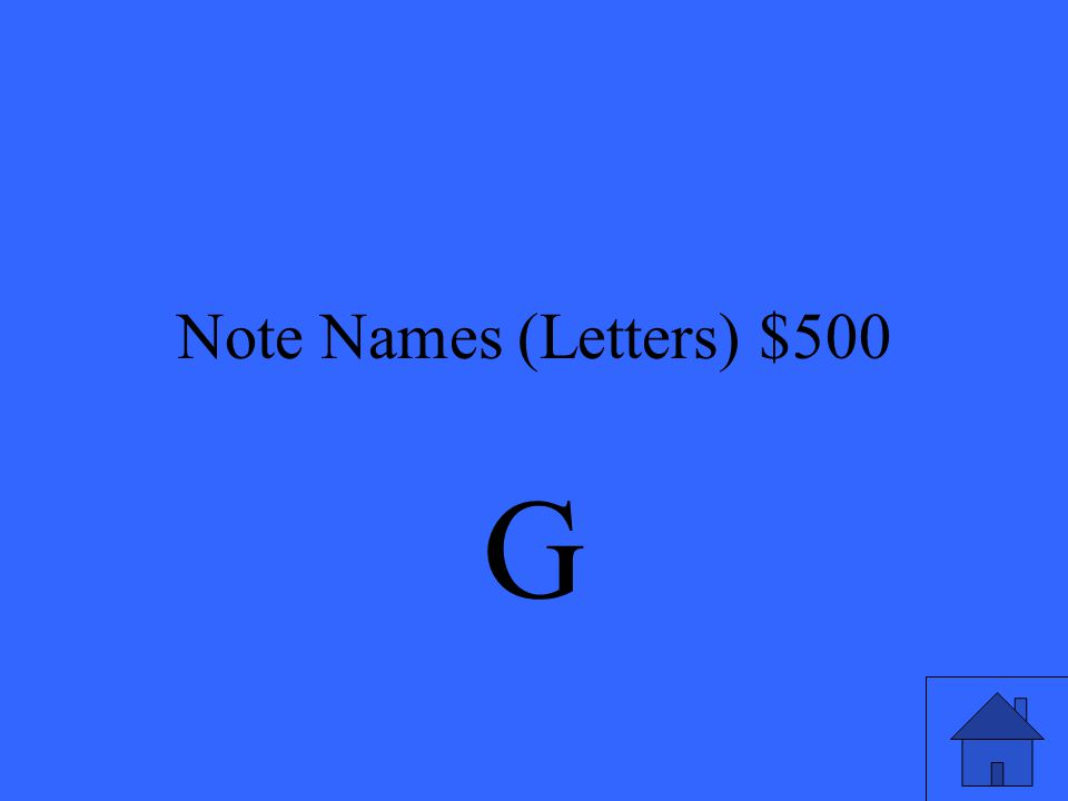 Note Names (Letters) $500
