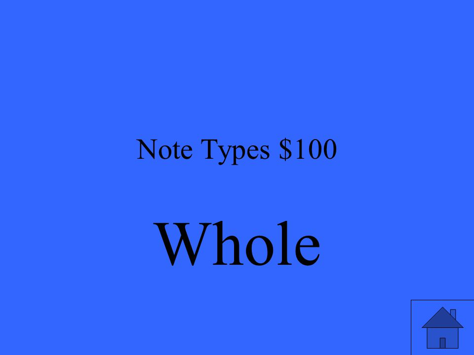 Note Types $100