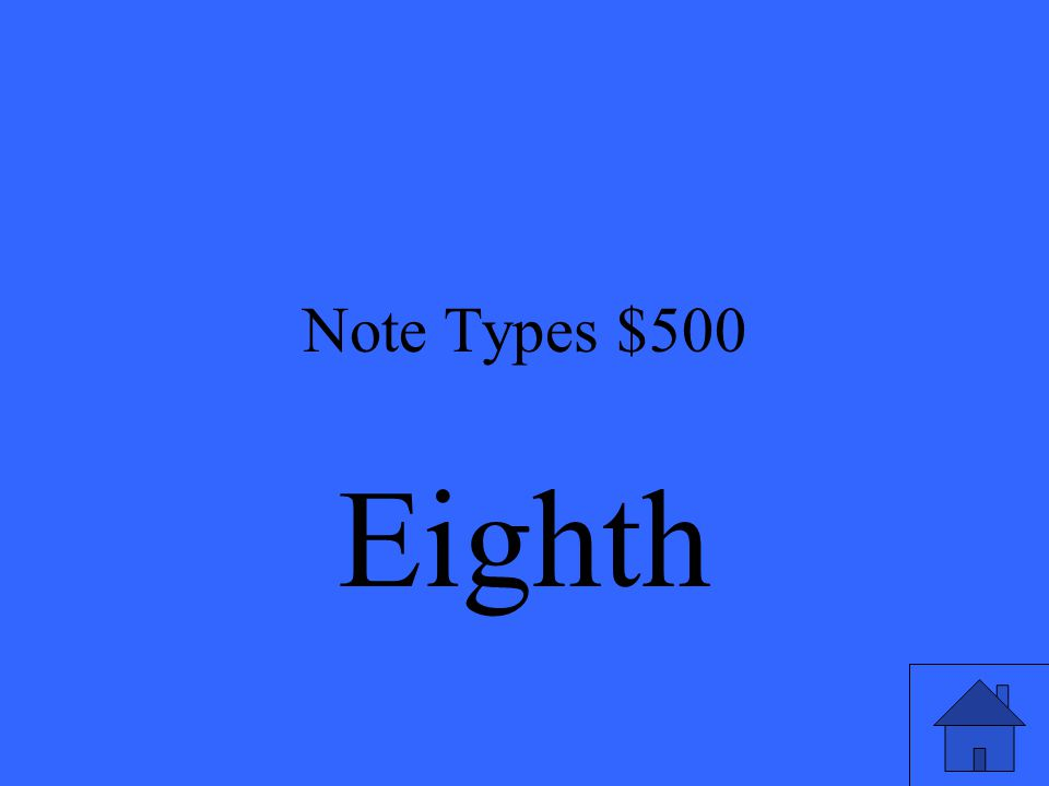 Note Types $500