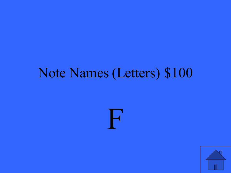Note Names (Letters) $100