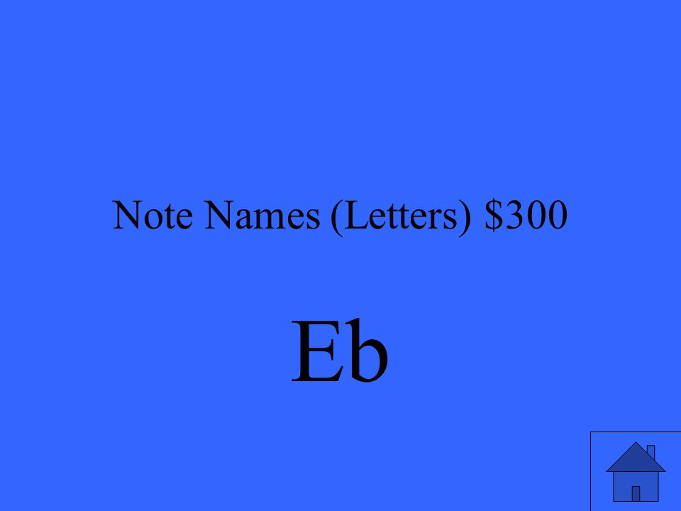 Note Names (Letters) $300