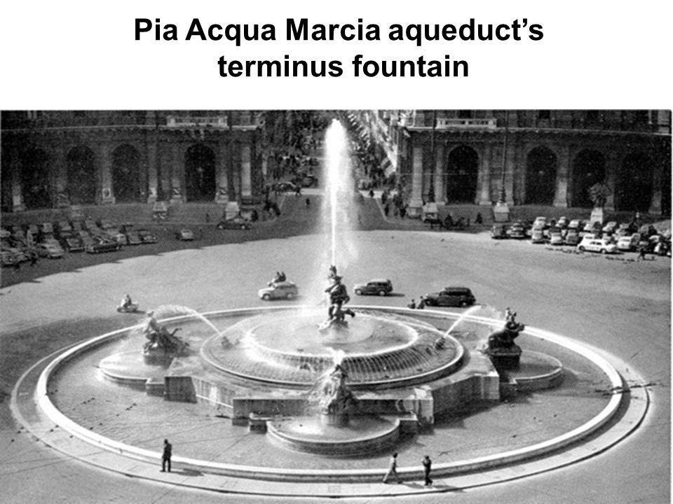 Pia Acqua Marcia aqueduct's terminus fountain
