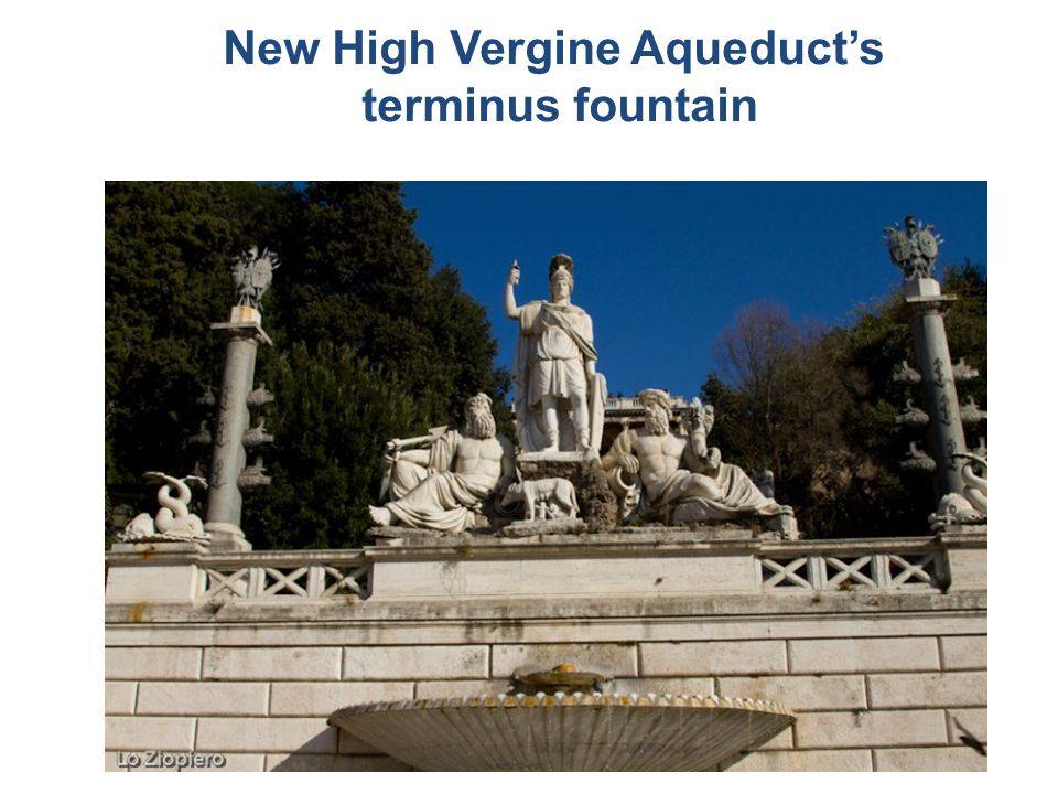 New High Vergine Aqueduct's terminus fountain
