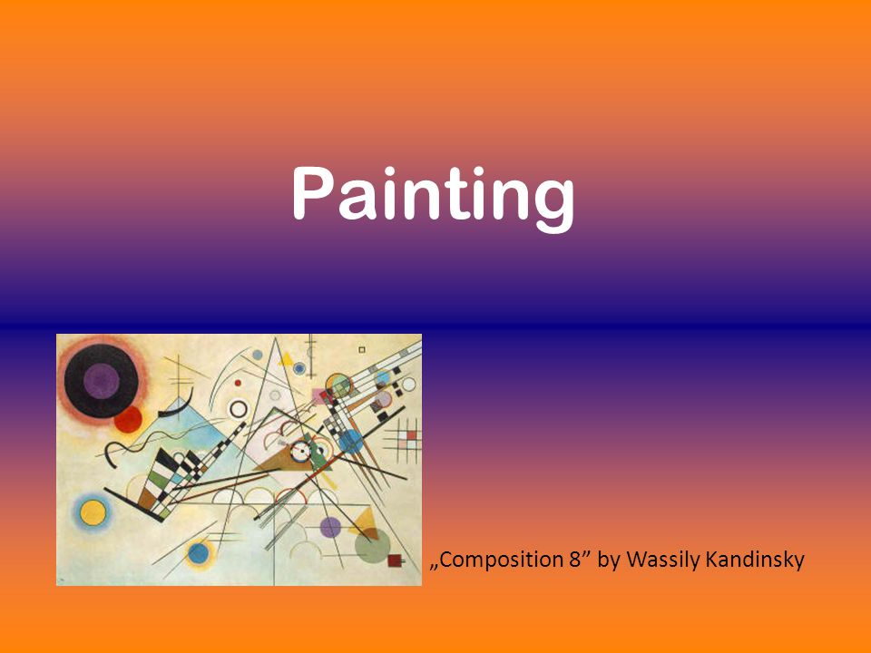 "Painting ""Composition 8"" by Wassily Kandinsky"