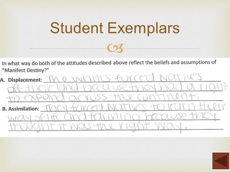  Student Exemplars