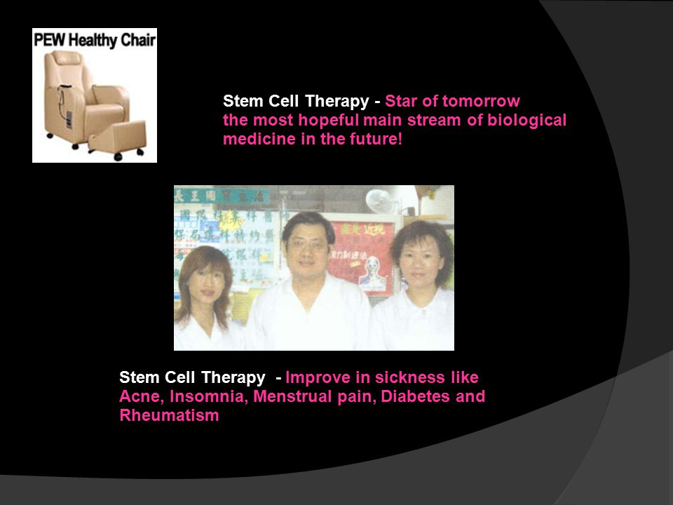 Stem Cell Therapy - Star of tomorrow the most hopeful main stream of biological medicine in the future! Testimony 01 – after 3 months therapies Blood