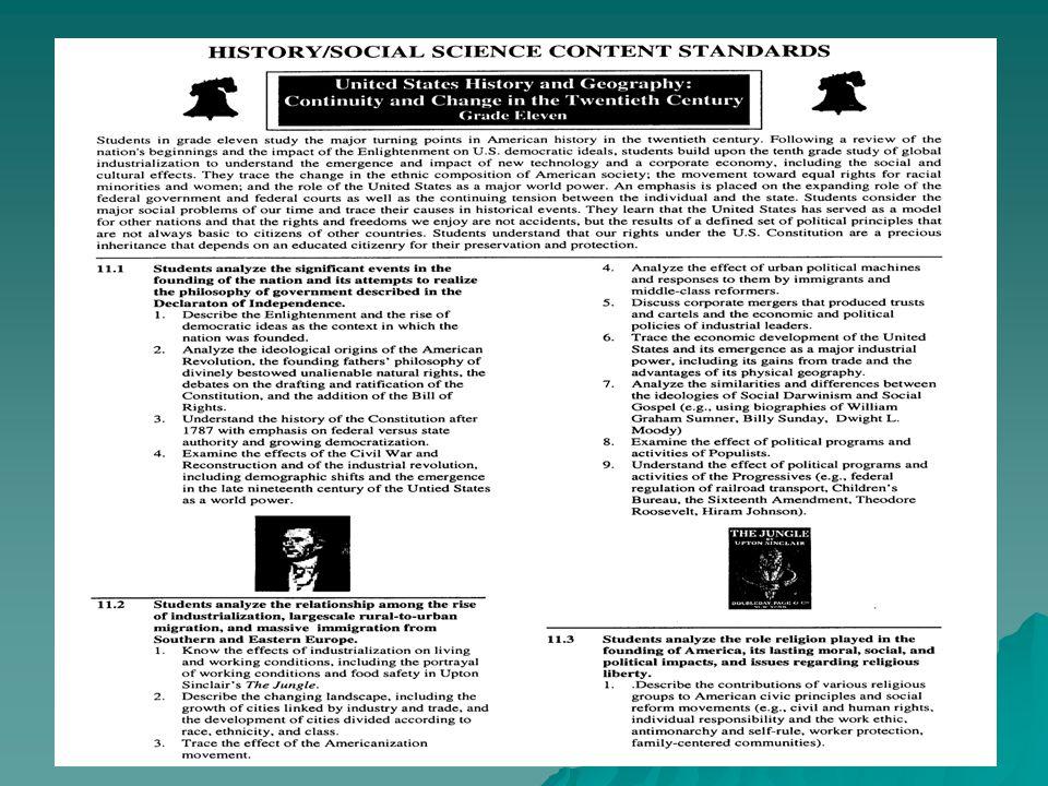 California Content Standards California Content Standards