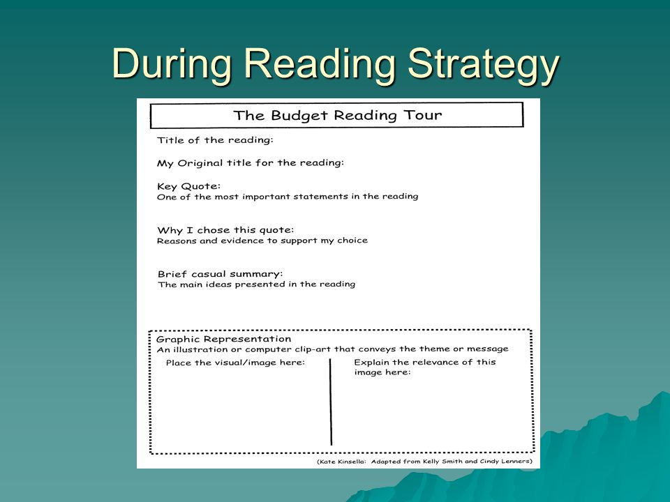 During Reading Strategy
