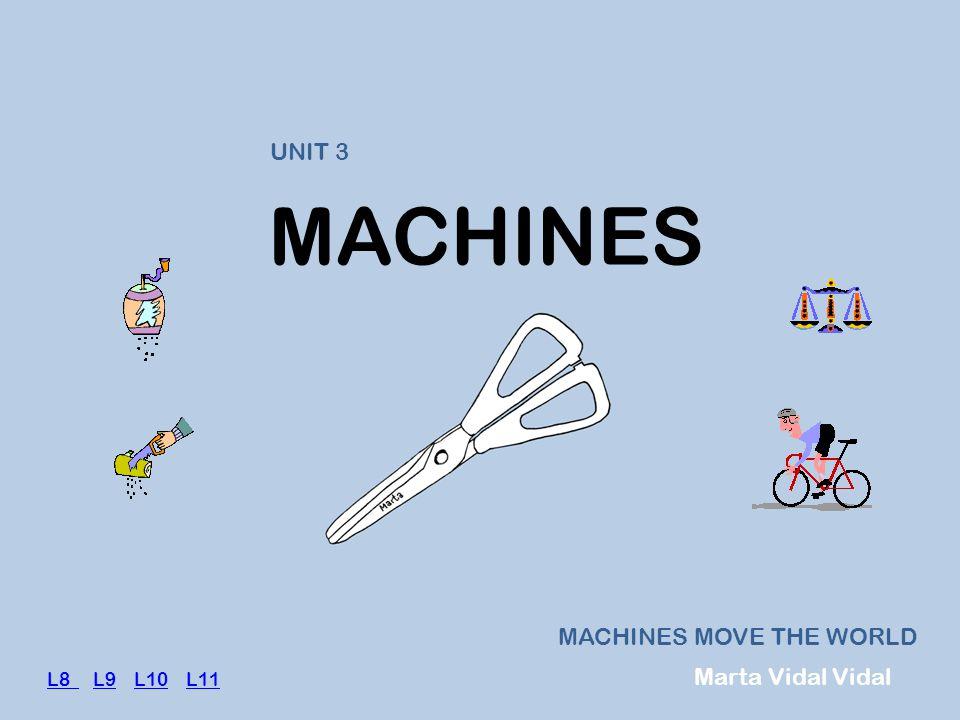 MACHINES MACHINES MOVE THE WORLD UNIT 3 Marta Vidal Vidal L8 L8 L9 L10 L11L9L10L11