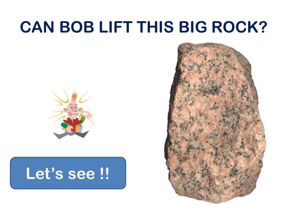 CAN BOB LIFT THIS BIG ROCK? Let's see !!
