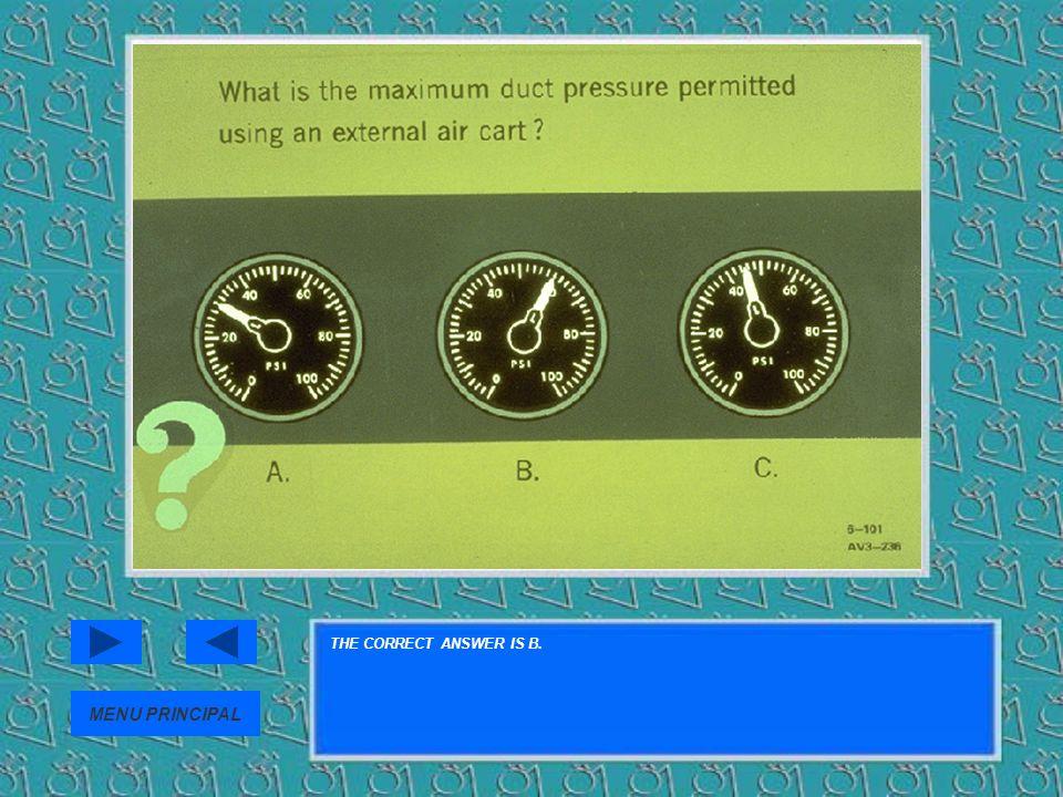 THE CORRECT ANSWER IS B. MENU PRINCIPAL