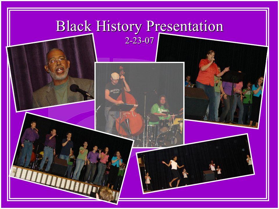 Black History Presentation 2-23-07