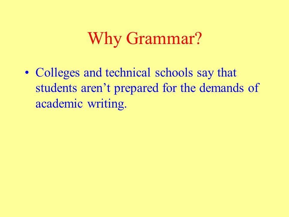 Ezarik, M.(2003). Survey: K-12, higher ed grammar disconnect.