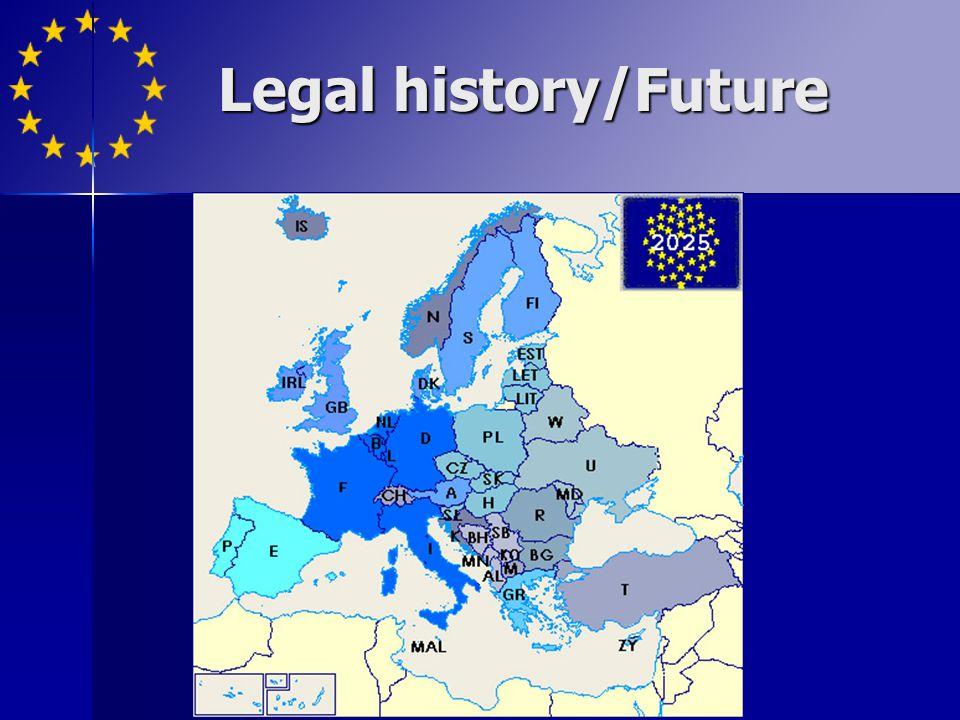Legal history/Future