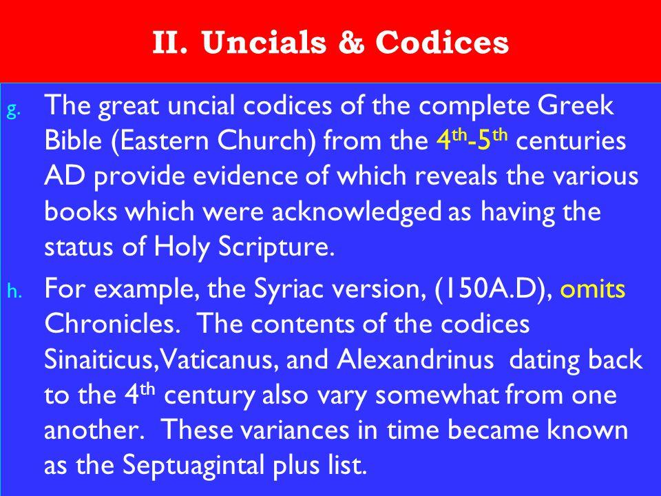 14 II. Uncials & Codices g.
