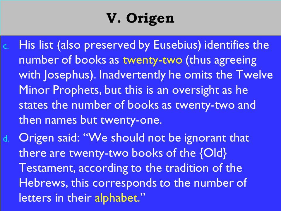 20 V. Origen c.