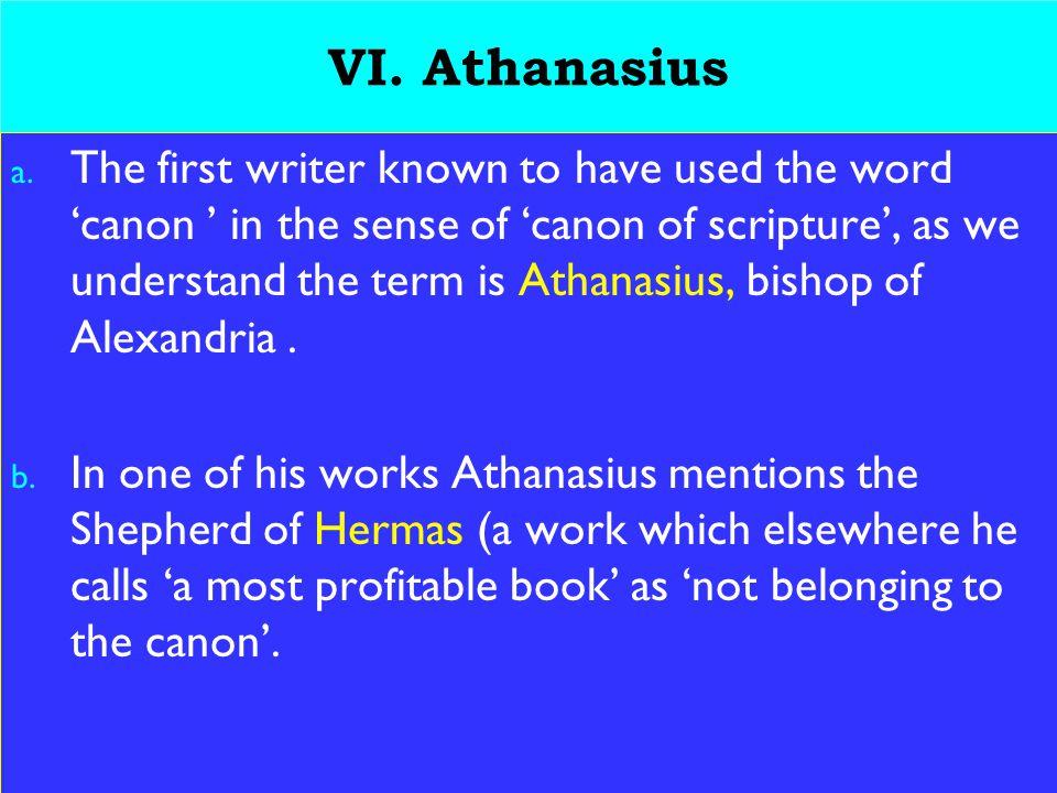 22 VI. Athanasius a.