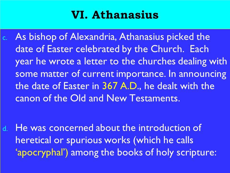 23 VI. Athanasius c.