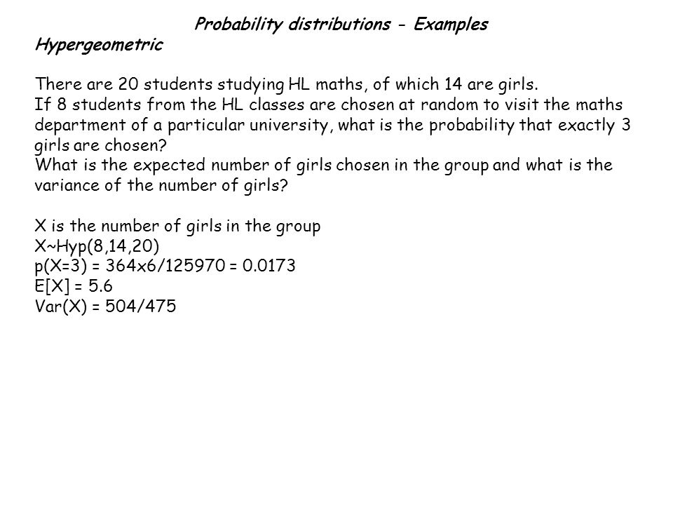 Example 3: The weights of apples are normally distributed with mean 380g and standard deviation 45g and the weights of bananas are normally distributed with mean 240g and standard deviation 25g.