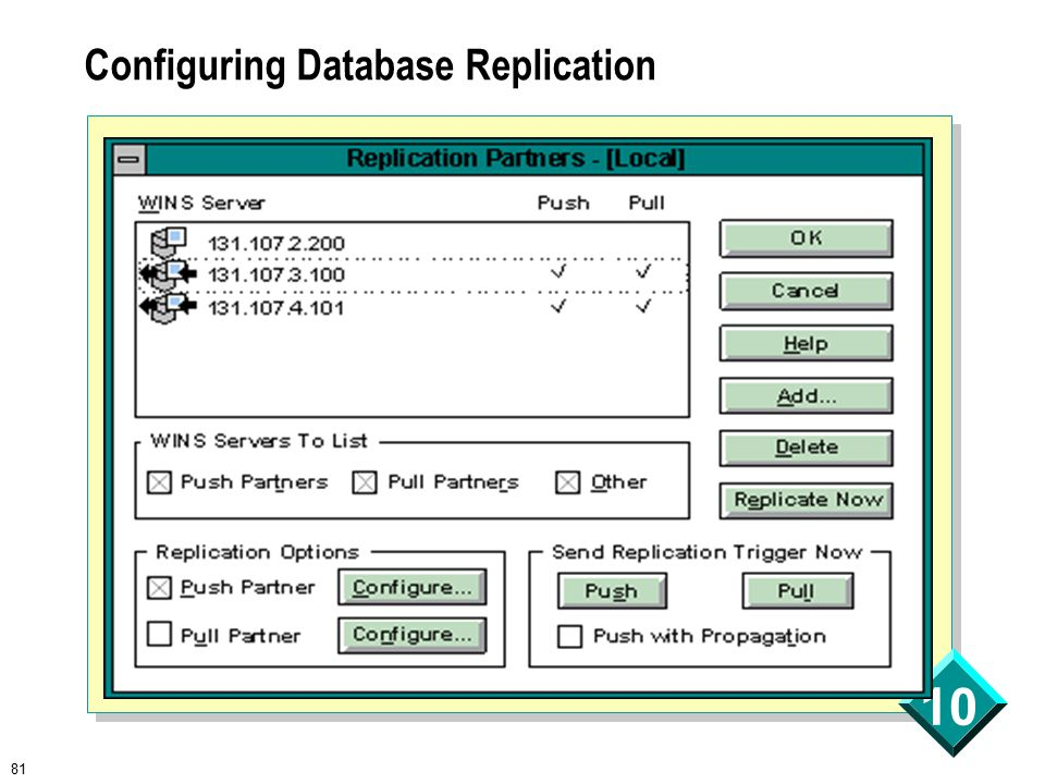 81 10 Configuring Database Replication