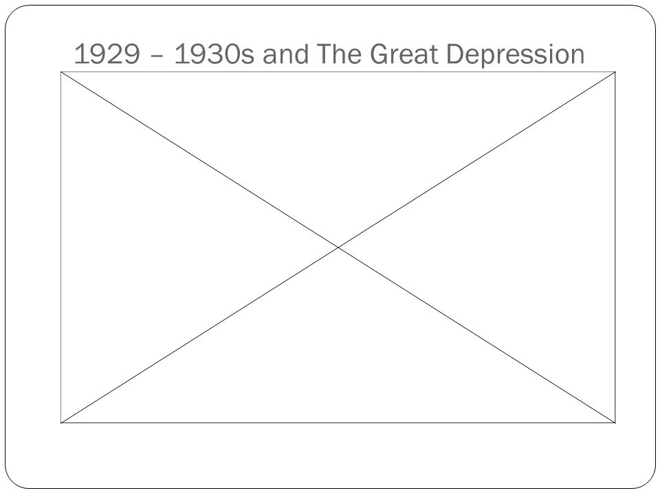 1929 – 1930s and The Great Depression
