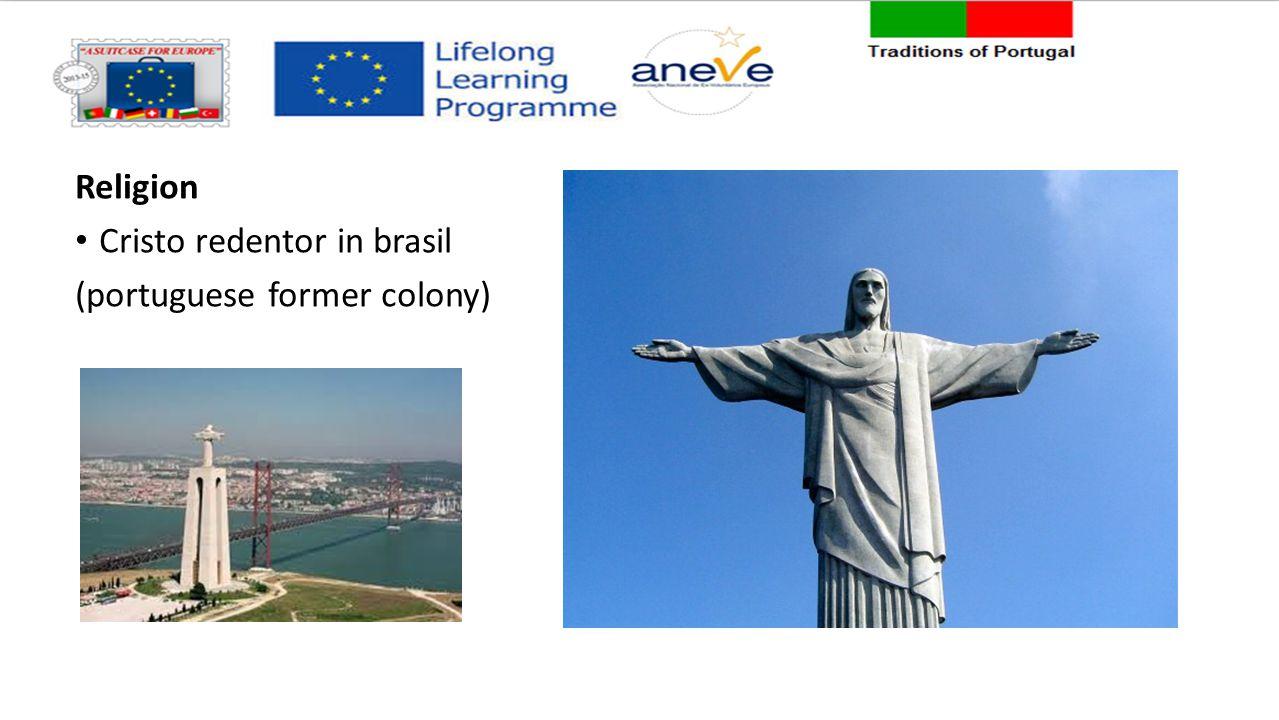 Religion Cristo redentor in brasil (portuguese former colony)