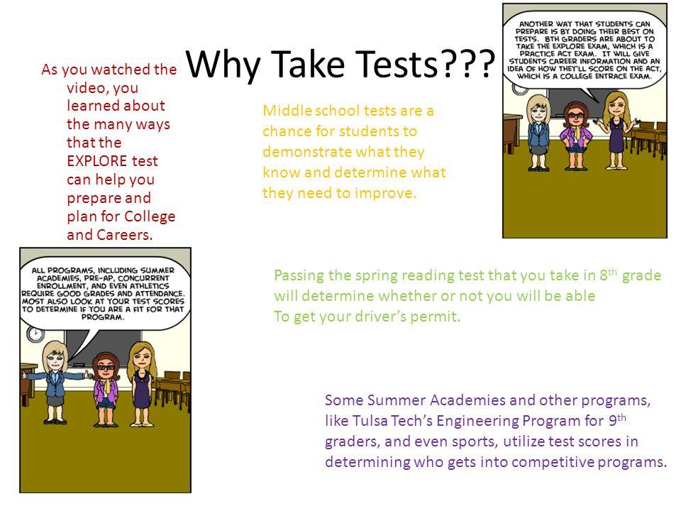 Why Take Tests .