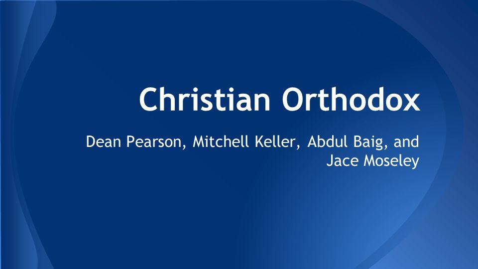 Christian Orthodox Dean Pearson, Mitchell Keller, Abdul Baig, and Jace Moseley